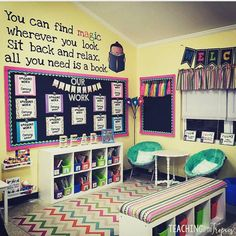Check out @teachinginthetropicsblog \'s classroom library. I love the quote on the wall. What a great place for students to read! #earlycorelearning