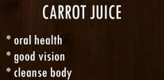CARROT JUICE RECIPE AND BENEFITS