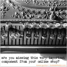 The role of blogging for an online shop; very clever read.