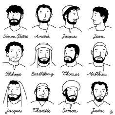 Illustrations : les apôtres et disciples de Jésus