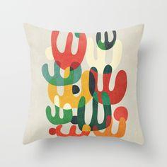 Cactus Throw Pillow by Picomodi