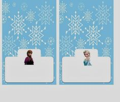 Free Printable Frozen Labels. food labels - 2 per page