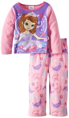 a5be2ce0a3 Sofia the First Girls 2-6X 2 Piece Fleece Pajama Set