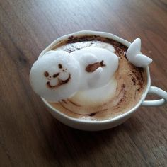 Enjoy seal coffe latte