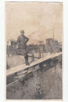 1918 WWI  CAMPALTO (CANALE) OSELLINO SULLO SFONDO HANGAR PER DIRIGIBILE-F16