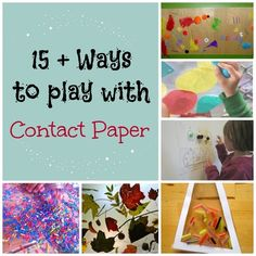 P is for Preschooler: 15+ Ways to play with Contact Paper