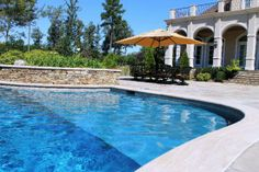 inground pool with ledge for chairs | Steps, Benches, & Ledges | Aloha Pools & Spas