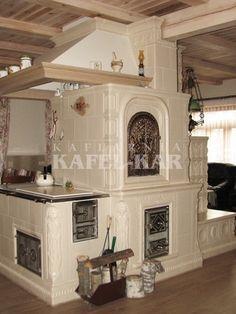Piec kaflowy Gate House, Stove Fireplace, Rocket Stoves, Modern Farmhouse Kitchens, Scandinavian Home, Dream Decor, Cob, Log Homes, Great Rooms