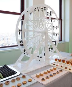 Ferris wheel dessert display. So cool! Have no idea how we'd make this though.