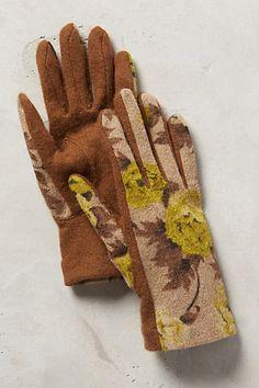 Rosette Wool Gloves - anthropologie.com
