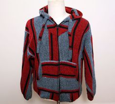 Vintage 80s baja drug rug hoodie zip up sweatshirt by 2artists216, $44.00