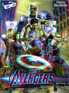 The Avengers Movie Poster Anaglyph by on DeviantArt Avengers Fan Art, Avengers Quotes, Avengers Imagines, Avengers Movies, Marvel Avengers, Marvel Gif, Foto 3d, Avengers Pictures, Glitch