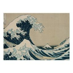 "The Great Wave of Kanagawa, from the series '36 Views of M Mt. Fuji' | by Katsushika Hokusai | Art Location: Private Collection | Japanese Artist | Image Collection Number: XIR158277  28"" x 20"" $15.95"