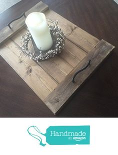 Rustic Wood Trays Many finishes available from Design's By JHD https://www.amazon.com/dp/B01HY1EWB0/ref=hnd_sw_r_pi_awdo_kqFbybCNWNH46 #handmadeatamazon
