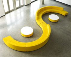 This awesome modular seating can be arranged in limitless configurations! by: Davis Furniture