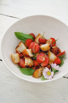 Seared Scallop, Strawberry, and Basil Salad