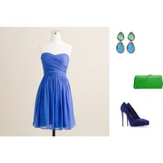 """""""Clear Spring - blue/green inspiration"""" by adriana-cizikova on Polyvore"""