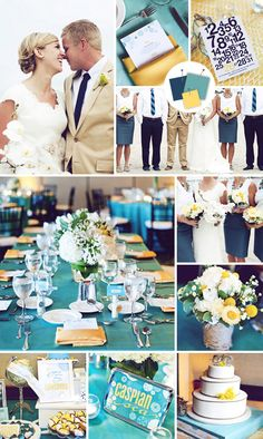Indigo + Teal + Saffron Might be my new wedding color palette! Possibly coral instead of saddron? But I'm obsessed!!