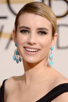 The 10 Golden Globes Beauty Looks That Will Inspire You All Year - Emma Roberts