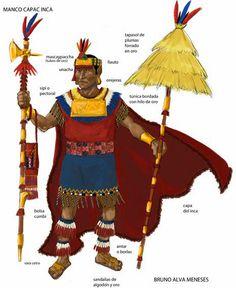 Petites guerres précolombiennes : Splendides planches de souverains et de guerriers incas de Bruno Alva Meneses.