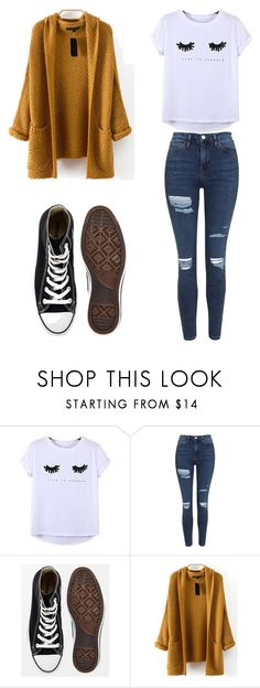 """Untitled #600"" by deima-835 ❤ liked on Polyvore featuring Chicnova Fashion, Topshop and Converse"