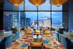 The view is spectacular from the #Tea Room at Mandarin Oriental in #Vegas. Enjoy traditional afternoon tea while you take it in.