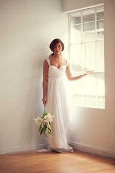 Sarah Seven dress. She makes the most romantic wedding dresses I've ever seen.