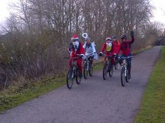 Santa and his helpers on the Monsal Trail - Christmas 2012