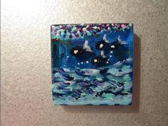 Category: Painted Glass Magnets | MOD ART STUDIOS Glass Magnets, Fiji Water Bottle, Art Studios, Artist Studios