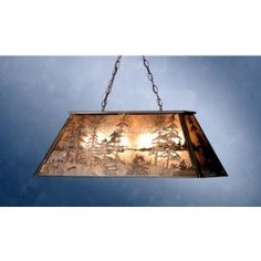 33 L Tall Pines Oblong Pendant by Meyda
