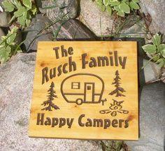 Tin Can Vintage Camper Sign 12 x 12 by BlackRiverWoodshop on Etsy