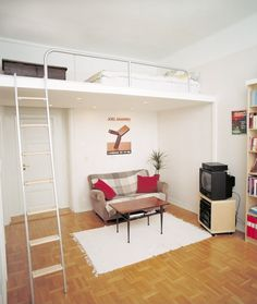 Bedrooms Designs , Bedroom Design for Small Space : Bedroom Design for Small Space4. Great idea for a studio apartment... Hmm