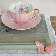 pink teacup.