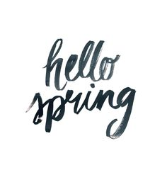 Spring - hello spring - Lettering By: Cristina Martinez