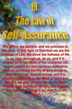 I picked the Law of Self-Assurance as your card of the day from my Soul Oracle Cards: http://www.souloraclecards.com/19.html