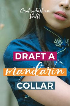Sewing Techniques Advanced - Learn how to draft a mandarin collar with this pattern making tutorial! This collar is a simple pattern to draft and easy to sew too! Sewing Hacks, Sewing Tutorials, Sewing Patterns, Sewing Tips, Sewing Projects, Pattern Cutting, Pattern Making, What Is Pattern, Simple Pattern