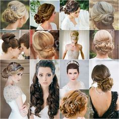 The most amazing collection of wedding hairstyles; See photo credit in the article.