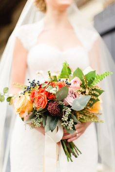 Fall Wedding Bouquet -  See the wedding on SMP:    http://www.StyleMePretty.com/2014/06/02/classic-fall-canadian-wedding/ Photography: BartekandMagda.com - Floral Design: FullBloom.ca