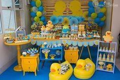 Ideas Baby Shower Cake For Boys Diy Party Favors Rubber Ducky Party, Rubber Ducky Birthday, Rubber Ducky Baby Shower, Baby Shower Duck, Baby Shower Cakes For Boys, Gender Neutral Baby Shower, Baby Shower Favors, Baby Shower Themes, Shower Ideas