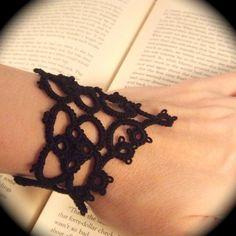 Tatted Lace Bracelet  La Petite Goth by TotusMel on Etsy, $25.00