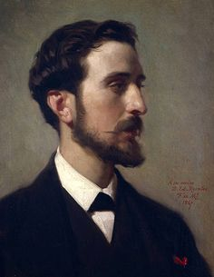 Federico de Madrazo (Spanish 1815–1894) [Romanticism, Portrait] Retrato del pintor Eduardo Rosales, 1867. Óleo sobre lienzo, 46.5 x 37 cm. Museo del Prado, Madrid.