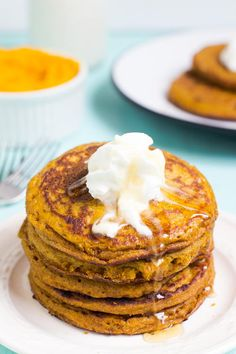 Make yourself a fall-flavored breakfast. You'll start the day off right with a delicious breakfast and it'll be extra special because pumpkin is the best.