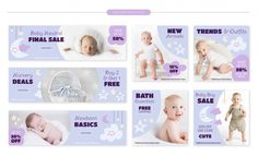 Sale Banner, Web Banner, Bebe Vector, Stationary Store, Baby Banners, Software, Sale Store, Baby Sale, Social Media Design
