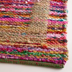 2'x3' Jute Bordered Recycled Cotton Rug | World Market