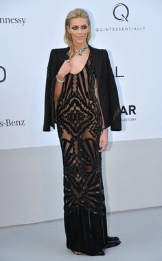 Cannes Film Festival 2012  Anja Rubik wearing Pucci at the amFAR Cinema Against AIDS gala.
