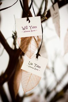escort cards || IN Photography http://www.inphotography.net/ || On Style Me Pretty: https://www.StyleMePretty.com/little-black-book-blog/2009/10/13/fall-wedding-in-colorado-from-in-photography/