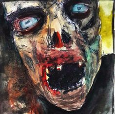 zombie - watercolour pen