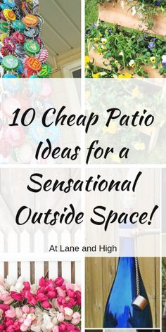 Today we have Ten Cheap Patio Ideas to make your outdoor living space SENSATIONAL  DIY patio and deck ideas on a budget so you can enjoy your outside living room  #crafts #diys #patterns #hacks Outdoor Living Furniture, Outdoor Living Rooms, Living Room On A Budget, Outside Living, Patio Decorating Ideas On A Budget, Diy On A Budget, Patio Ideas, Backyard Ideas, Backyard Retreat