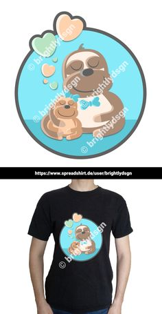 Get this cute sloth design on various shirts, hoodies and other accessories - for kids, babies and people with a yound mind! Great gift for new siblings - girls and boys! Shirt Designs, New Sibling, Cute Sloth, Animal Fashion, Typography Prints, Siblings, Boys, Girls, Great Gifts