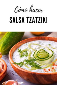Tzatziki, Greek Recipes, Dressings, Cantaloupe, Salmon, Food And Drink, Appetizers, Fruit, Gastronomia